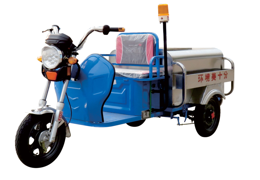 动三轮不锈钢垃圾分类车